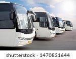 Big Tourist Buses On Parking