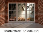brick room with a view to the... | Shutterstock . vector #147083714