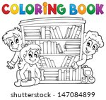 coloring book pupil theme 2  ... | Shutterstock .eps vector #147084899