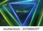 neon glowing lights. geometric...   Shutterstock .eps vector #1470860297
