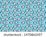 cute owl pattern design... | Shutterstock .eps vector #1470862457