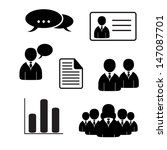 office people icons set.... | Shutterstock .eps vector #147087701