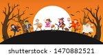 happy halloween. children... | Shutterstock .eps vector #1470882521