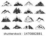 mountain icons. mountains top... | Shutterstock .eps vector #1470882881