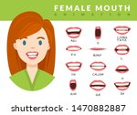 female mouth animation. womans... | Shutterstock .eps vector #1470882887