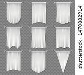 white pennant. hanging...   Shutterstock .eps vector #1470882914