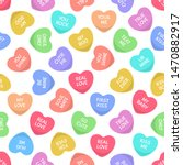 Candies Seamless Hearts Pattern....