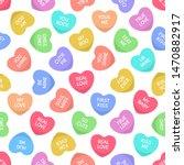 candies seamless hearts pattern.... | Shutterstock .eps vector #1470882917