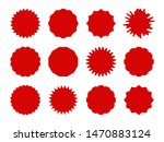 starburst stickers. star shaped ... | Shutterstock .eps vector #1470883124