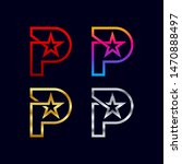 letter p logotypes with star...   Shutterstock .eps vector #1470888497