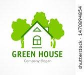 green house logo  ecology... | Shutterstock . vector #1470894854