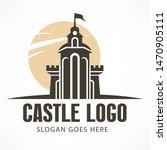 retro castle logo  antique... | Shutterstock . vector #1470905111