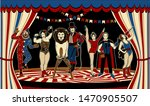 the lion tamer  the clown  the...   Shutterstock .eps vector #1470905507