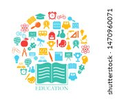 education design concept with... | Shutterstock .eps vector #1470960071