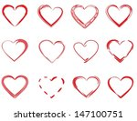 red hearts | Shutterstock .eps vector #147100751