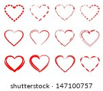 red hearts   Shutterstock .eps vector #147100757