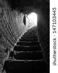 Stone Corridor With Stairway I...