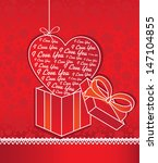 valentine card   Shutterstock . vector #147104855