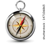compass with windrose. vector... | Shutterstock .eps vector #147106865