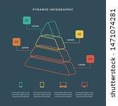 pyramid 3d info chart graphic... | Shutterstock .eps vector #1471074281