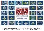 isometric set of blocks module... | Shutterstock .eps vector #1471075694