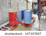 Oil Tank At Construction Site