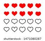 heart icon set  love symbol... | Shutterstock .eps vector #1471080287