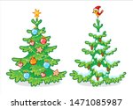 collection of two christmas... | Shutterstock .eps vector #1471085987