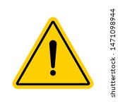 vector hazard warning symbol.... | Shutterstock .eps vector #1471098944