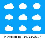 set of flat cloud icons for web ... | Shutterstock .eps vector #1471103177