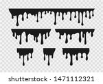 vector set of  melting drops... | Shutterstock .eps vector #1471112321