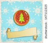 Christmas Greeting Card  Vecto...