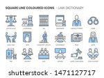 law dictionary related  square... | Shutterstock .eps vector #1471127717
