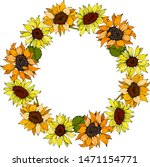 Sunflower Floral Botanical...