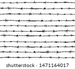 barbed wire vector seamless... | Shutterstock .eps vector #1471164017