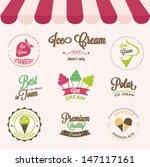 ice cream labels set  | Shutterstock .eps vector #147117161