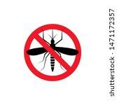 repellent mosquito stop sign... | Shutterstock .eps vector #1471172357