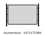 fence wire metal chain link.... | Shutterstock .eps vector #1471172384