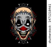 monster clown vector for... | Shutterstock .eps vector #1471218461