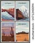 set of retro posters  colorado  ... | Shutterstock .eps vector #1471240094