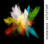 launched colorful powder ...   Shutterstock . vector #147127169