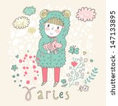 cute zodiac sign   aries....   Shutterstock .eps vector #147133895