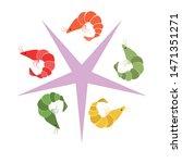 shrimp fresh seafood. vector...   Shutterstock .eps vector #1471351271