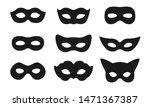 Black Mask Vector Icon...