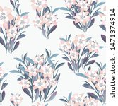seamless pattern beautiful pink ... | Shutterstock .eps vector #1471374914