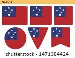 flag of samoa. flag icon set of ... | Shutterstock .eps vector #1471384424
