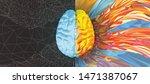 polygonal human brain... | Shutterstock .eps vector #1471387067