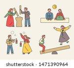 korean people enjoying the... | Shutterstock .eps vector #1471390964