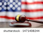 Judge\'s Gavel On Table With Us...