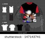 t shirt design. vector | Shutterstock .eps vector #147143741